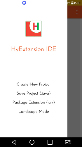 HyExtension IDE : Offline Java Editor for Android made with Makeroid
