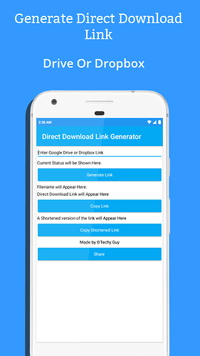 Direct Download Link Generator - Koded Apps - Kodular Community
